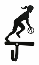 Wall Hook, Basketball, Women/Girls, Wrought Iron