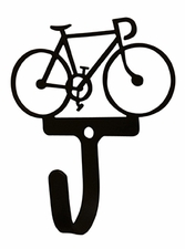 Wall Hook, Bicycle, Wrought Iron