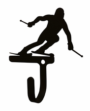 Wall Hook, Skier, Snow Sport, Wrought Iron