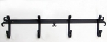 Coat Rack, Hooks, Wrought Iron, Wall Mounted, 4 Hooks