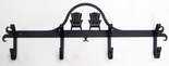 Coat Rack, Hooks,  Adirondack Chairs, Wrought Iron, Wall Mounted