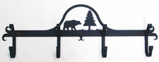 Coat Rack, Hooks, Bear, Wrought Iron, Wall Mounted