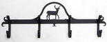 Coat Rack, Hooks,  Deer, Wrought Iron, Wall Mounted