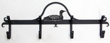 Coat Rack, Hooks, Loon, Duck, Wrought Iron, Wall Mounted