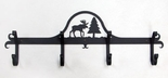 Coat Rack, Hooks, Moose, Wrought Iron, Wall Mounted