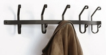 Coat Rack, Hooks, Wrought Iron, Wall Mounted, 5 Hooks