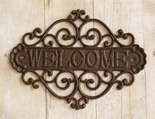 Welcome Sign, Rustic, Cast Iron