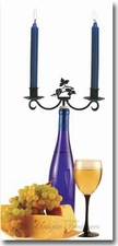 CANDLE HOLDERS, WINE BOTTLE TOPPERS, WROUGHT IRON
