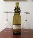 WINE FOR TWO, WINE GLASS HOLDERS, WROUGHT IRON