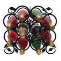 WINE RACKS, TABLETOP & WALL MOUNTED, WROUGHT IRON