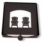 Napkin Holder, Adirondack Chairs, Wrought Iron, 2-Piece