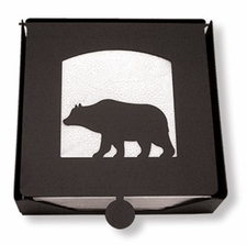 Napkin Holder, Bear Silhouette, Wrought Iron, 2-Piece