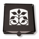 Napkin Holder, Leaf Fan, Wrought Iron, 2-Piece