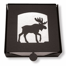Napkin Holder, Moose Silhouette, Wrought Iron, 2-Piece