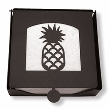 Napkin Holder, Pineapple Silhouette, Wrought Iron, 2-Piece