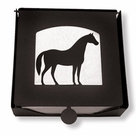 Napkin Holder, Horse Silhouette, Wrought Iron, 2-Piece