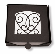 Napkin Holder, Victorian Heart, Wrought Iron, 2-Piece