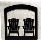 Napkin Holder, Adirondack Chairs, Wrought Iron