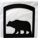 Napkin Holder, Bear Silhouette, Wrought Iron