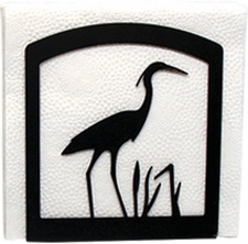 Napkin Holder, Blue Heron Silhouette, Wrought Iron