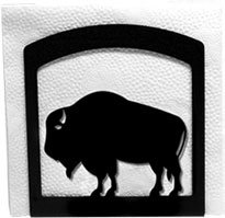 Napkin Holder, Buffalo Silhouette, Wrought Iron