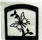 Napkin Holder, Butterfly Silhouette, Wrought Iron