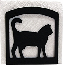 Napkin Holder, Cat Silhouette, Wrought Iron