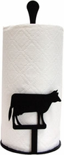 Paper Towel Holder, Cow, Countertop, Wrought Iron