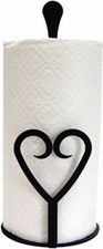 Paper Towel Holder, Heart, Countertop, Wrought Iron