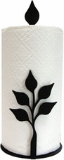 Paper Towel Holder, Leaf, Countertop, Wrought Iron
