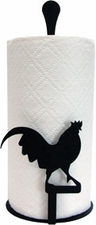 Paper Towel Holder, Rooster, Countertop, Wrought Iron