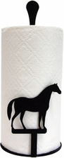 Paper Towel Holder, Horse, Countertop, Wrought Iron