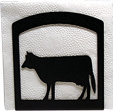 Napkin Holder, Cow Silhouette, Wrought Iron