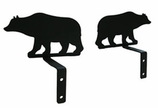 Curtain Swags, Wrought Iron, Bear Silhouette