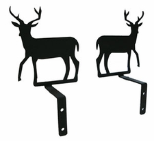 Curtain Swags, Wrought Iron, Deer Silhouette