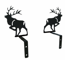 Curtain Swags, Wrought Iron, Elk Silhouette