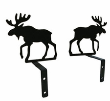 Curtain Swags, Wrought Iron, Moose Silhouette