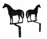 Curtain Swags, Wrought Iron, Standing Horse