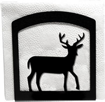 Napkin Holder, Deer Silhouette, Wrought Iron