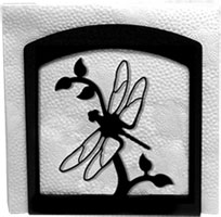 Napkin Holder, Dragonfly Silhouette, Wrought Iron