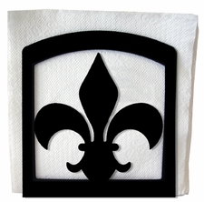 Napkin Holder, Fleur De Lis, Wrought Iron