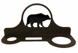 Hair Dryer Holder, Organizer, Wrought Iron, Bear Silhouette