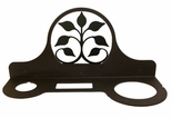 Hair Dryer Holder, Organizer, Wrought Iron, Leaf Fan Design