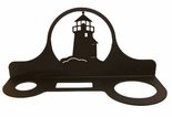Hair Dryer Holder, Organizer, Wrought Iron, Lighthouse