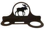 Hair Dryer Holder, Organizer, Wrought Iron, Moose Silhouette