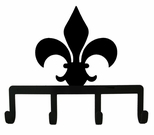 Key Holder, Hanger, Fleur De Lis, Leash Hook, Jewelry Hooks, Wrought Iron