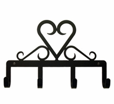 Key Holder, Hanger, Heart, Leash Hook, Jewelry Hooks, Wrought Iron