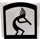 Napkin Holder, Kokopelli Silhouette, Wrought Iron