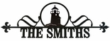 Custom House Plaque / Sign, Lighthouse, Wrought Iron