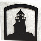 Napkin Holder, Lighthouse Silhouette, Wrought Iron